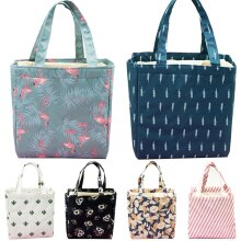 Adults Kids Thermal Insulated Lunch Bag Cool Box Picnic Office Lunch Handbag UK
