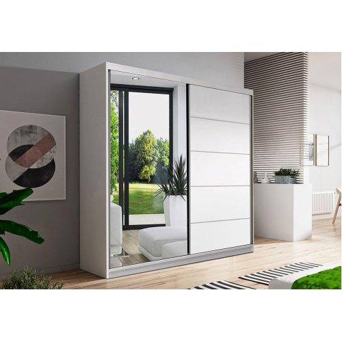 CHECO Mirrored 2 Door Sliding Wardrobe