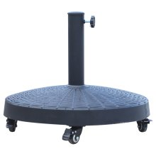 Outsunny 25kg Resin Patio Umbrella Base Parasol Stand Weight Deck w/ Wheels