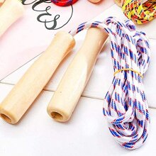 Kidoloop Skipping Rope Gym Activity Kids and Adults with Wooden Handle