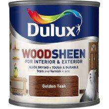 Dulux Interior & Exterior Woodsheen 250ml Golden Teak