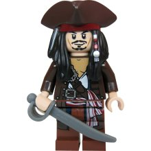 LEGO Pirates of the Caribbean–Captain Jack Sparrow Figure with Pirate's Hat