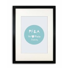 A3 For A4 Picture - Oxford Black Poster Picture Frame With Soft Cream Mount - Glass Window