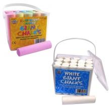 Jumbo Coloured  Chalk - 20 Chalks