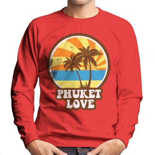Phuket Love Retro Men's Sweatshirt