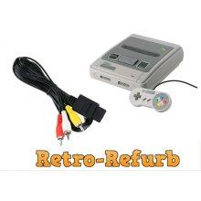Super Nintendo SNES - TV Cable AV Video Lead RCA Audio Lead