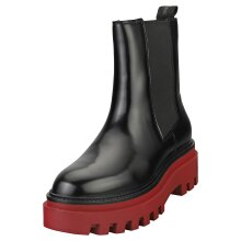 Calvin Klein Flatform Mid Womens Chelsea Boots in Black Burgundy