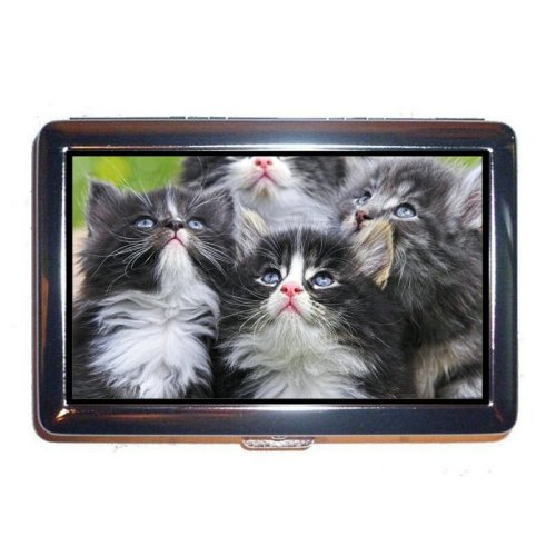 Wallet or Cigarette Case,Cat Cash Holder Case Box 0046