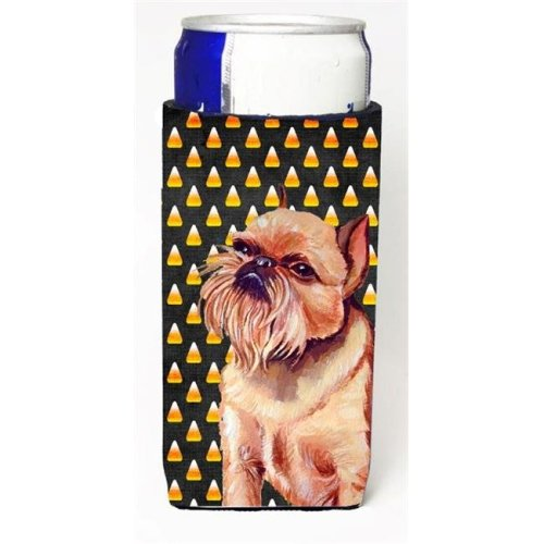 Brussels Griffon Candy Corn Halloween Portrait Michelob Ultra bottle sleeves For Slim Cans - 12 oz.