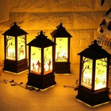 Halloween Castle Light Lamps Party LED Lantern