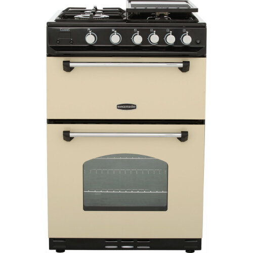 Rangemaster Classic 60 CLAS60NGFCR/C 60cm Gas Cooker with Variable Gas Grill - Cream / Chrome