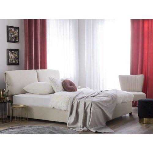 Fabric EU King Bed Beige BELFORT
