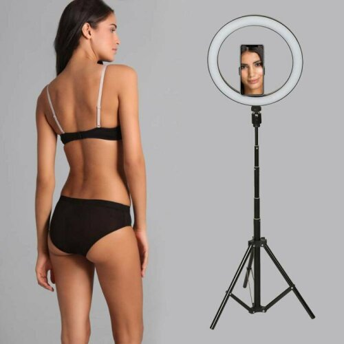 10 Inch LED Ring Light With Stand and Phone Holder Make-up for Camera