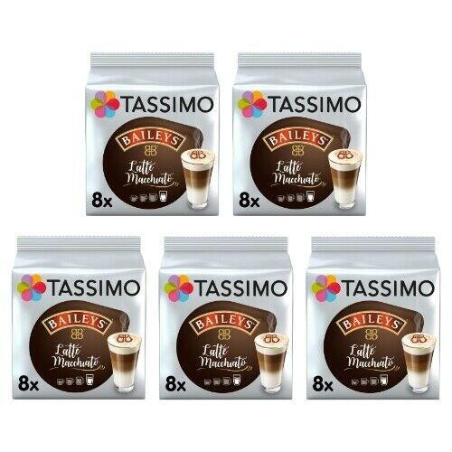 Tassimo Baileys Latte Macchiato Coffee Pods, Pack Of 5, 40 Drinks