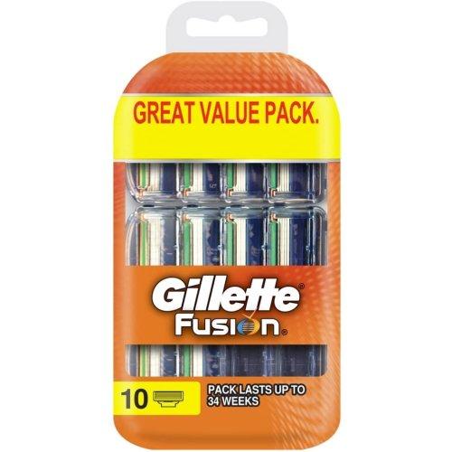 10pk Gillette Fusion Razor Blades | Disposable Razor Blades