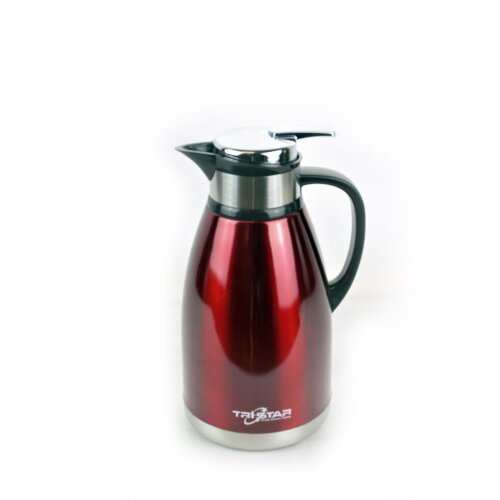 (Red) Stainless Steel 2L Vacuum Insulated Jug Flask