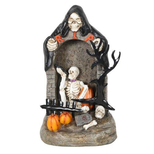 Grim Reaper Skeleton RIP Light Up Halloween Decoration