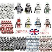 10-20PCS/LOT Disney Star Wars Blocks clone trooper Figures Compatible LEGO
