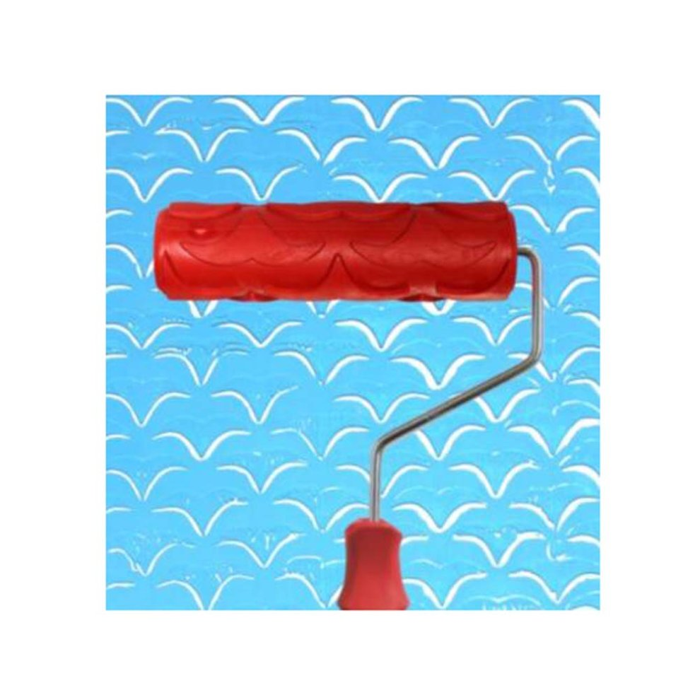 Embossed Paint Roller Wall Painting