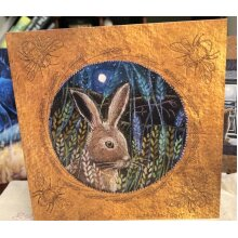Harvest Hare greetings card by hannah Willow