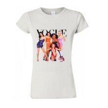 Spice Girls Singers Group Vogue Fashion Women T Shirt