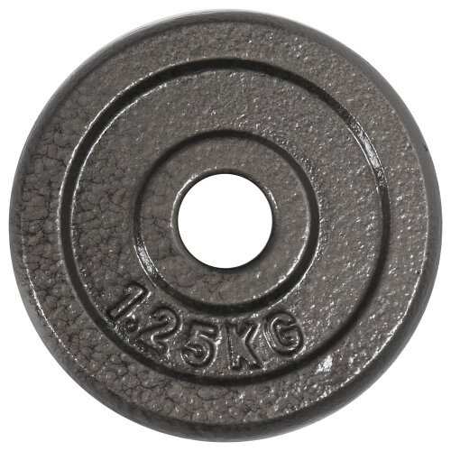 """(2 x 1.25 kg) Gym Master Pair Standard Weight Plates 1"""" Cast Iron 1.25-20KG Barbell Dumbbell"""