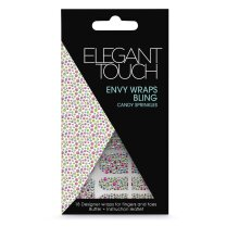 Elegant Touch Envy Bling Nail Wraps, Candy Sprinkles