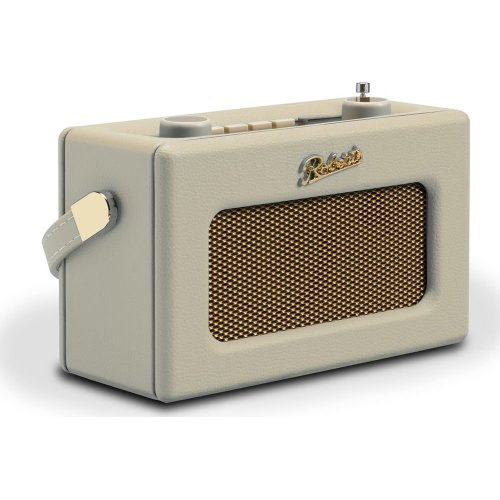 ROBERTS Revival Uno Retro Portable Clock Radio - Pastel Cream, Cream