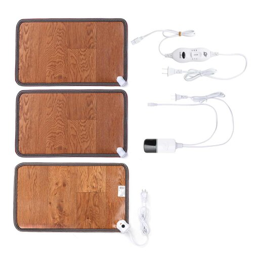 Leather Electric Heating Foot Mat Warmer Pads - Feet Leg Warmer Carpet Thermostat Warming Tools