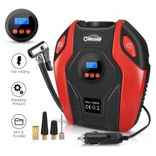 Oasser Tyre Inflator Air Compressor Car Tyre Pump Portable Electric with Digital LCD LED Light 12V DC 150 PSI for Car Bicycle Tires Balls Swimming R