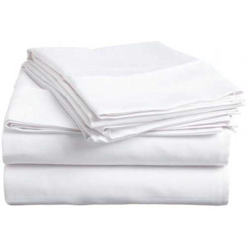 400 Thread Count Egyptian Cotton Twin XL Sheet Set Solid  White
