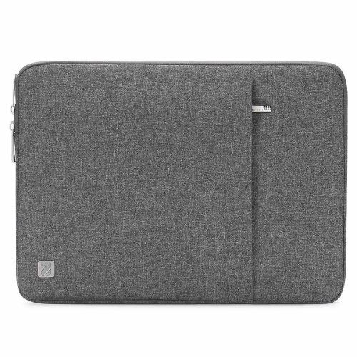 """NIDOO 15 Inch Water-Resistant Laptop Sleeve Case Protective Bag Portable Carring Pouch For 15"""" MacBook Pro Retina Display, Grey"""