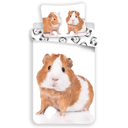 Guinea Pig Single Cotton Duvet Cover and Pillowcase Set - European