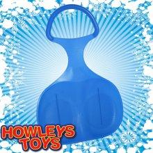 Blue Plastic Snow Skimmer Bump Sled / Sledge
