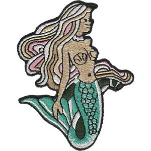Patch - Surfing - Mermaid Icon-On p-dsx-4841