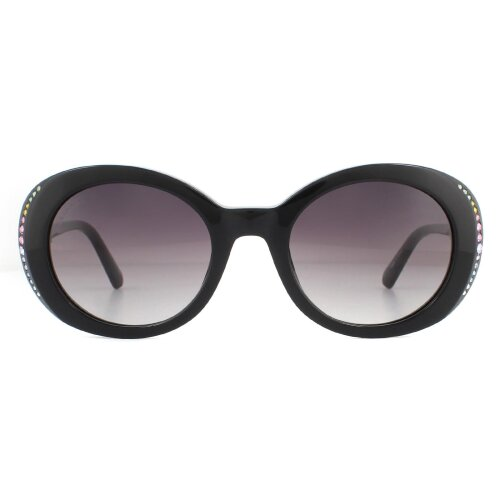 Swarovski Sunglasses SK0281/S 01B Black Smoke Grey Gradient