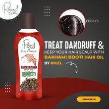 RIGEL Pure & Natural BRAHMI BOOTI Hair Oil Damage Repair Strengthen Roots -200ml