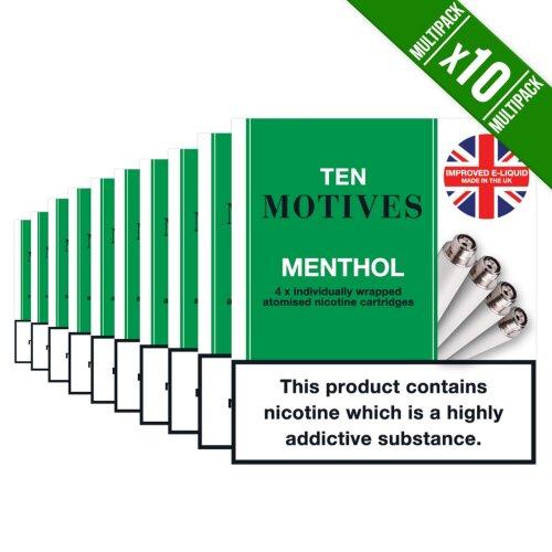 ten motives menthol 1 box of 10 packs