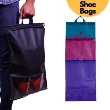 Shoe Bag, Large Non-Woven Drawstring Storage Bags