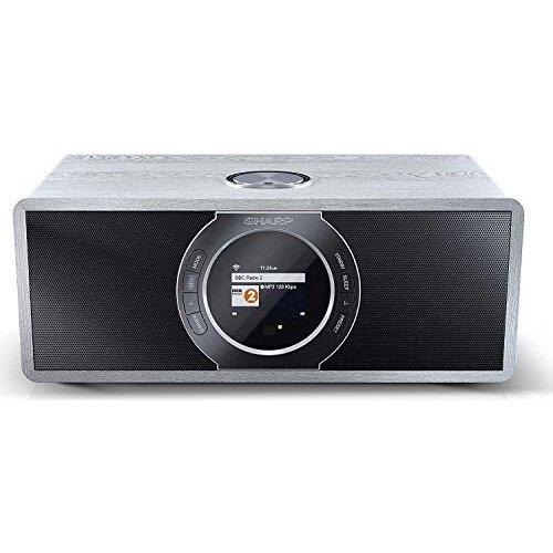 Sharp DR-I470(GR) PRO 30W Internet DAB+ FM Stereo Digital Radio with Wi-Fi, Bluetooth, Alarm, TFT Colour Display & Remote Control - Grey