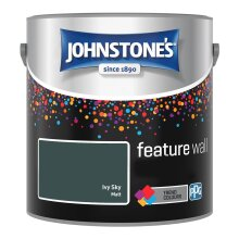 Johnstones Feature Wall Soft Sheen Emulsion Paint 2.5l Ivy Sky