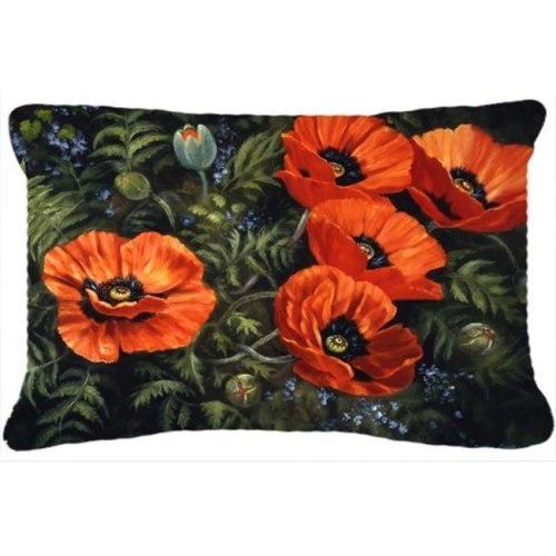 Poppies by Daphne Baxter Fabric Decorative Pillow