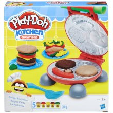 Play-Doh Kitchen Creations Cooks Can Grill Burger Barbecue Playset