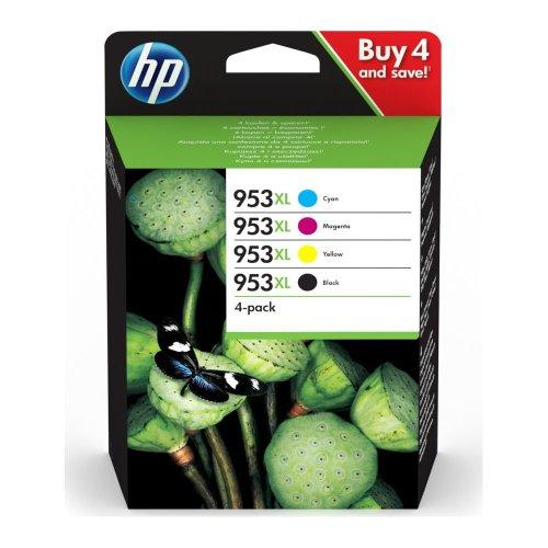 HP 953XL Cyan, Magenta, Yellow & Black Ink Cartridges, Cyan