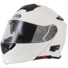 VCAN V271 White Bluetooth Flip Front Helmet