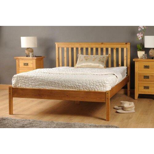 (3ft Single, Caramel) Riga Wooden Bed Frame