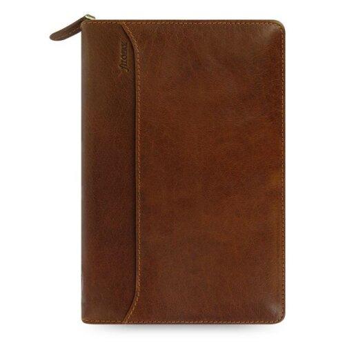 Filofax Lockwood Personal Zip Organiser Cognac Full Grain Buffalo Leather Cover