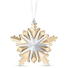 Swarovski 5535541 10 x 10 x 1.5 cm Winter Sparkle Ornament, Light Multi Color