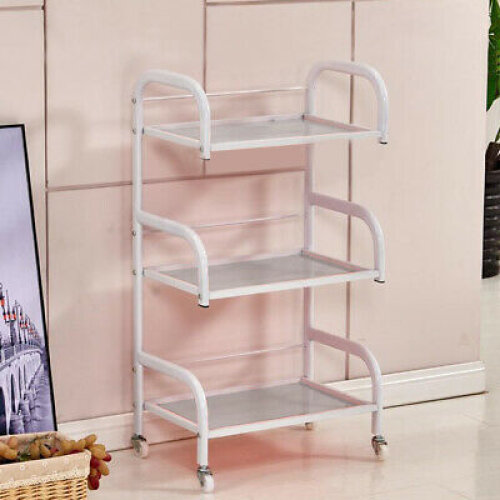 Trolley Shelves 3-layer Toughened Glass beauty frame Hair Beauty