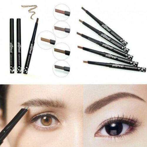 Popfeel wholesale Single-head Rotary Brake Eyebrow Lasting Waterproof Not Blooming Easy To Color DIY Makeup